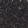 Miyuki Tila Half Cut 5X2.3mm 2Hole Black Opaque Matte